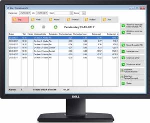 salon software omzet overzicht