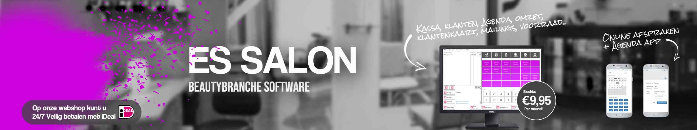 Salonsoftware, kapperssoftware, salon software kapsalon, schoonheidssalon software